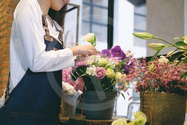 Young Business Owner Flower Shop