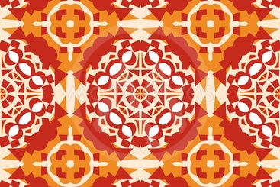 Pretty Orange Mosaic