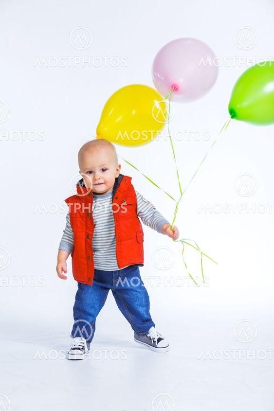 Cute funny little boy.