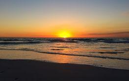Beautiful sunset on the beach in Western Australia, near...