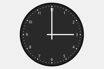 three o'clock
