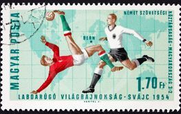 Postage stamp Hungary 1966 Soccer Play