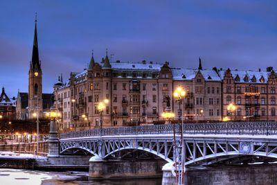 Bridge in winter.