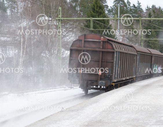Green Cargo sista vagnen, snömoln