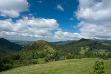 Landscape in the Auvergne, France, Europe