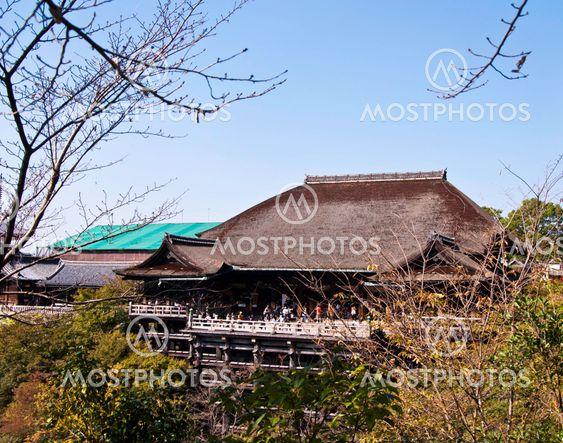 Kiyomizu Dera buddhistiska templet i Kyoto, Japan.