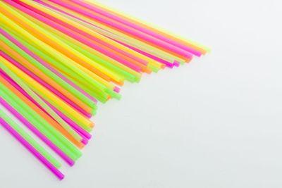 Vibrant colors drinking straws plastic type