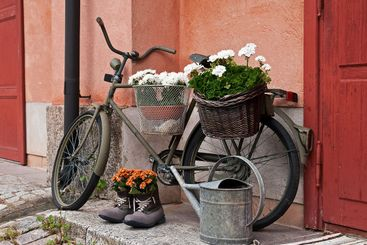 Old military bicycle.