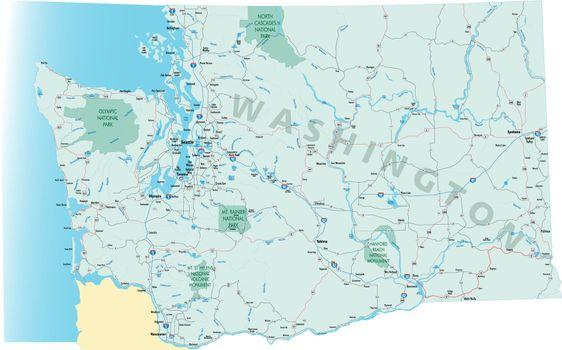 Washington State Road Map - JPG
