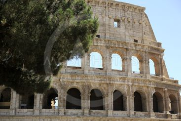 Rome, The Majestic Coliseum. Italy. Colosseum Rome. Ruins...