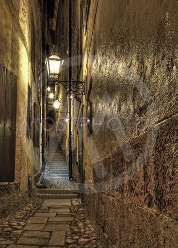 Narrow alley in Old Town.