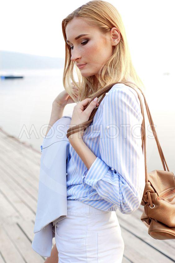 girl posing in the dock