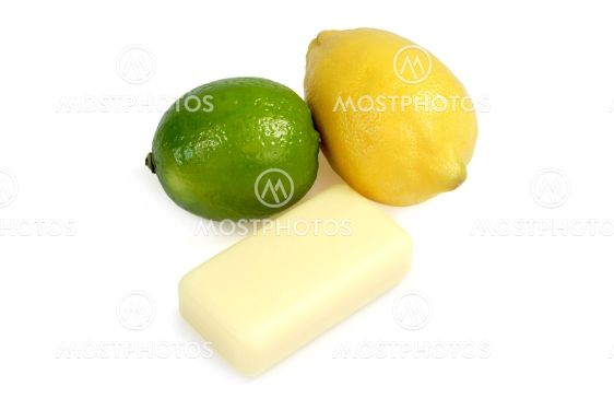Soap from lime and lemon