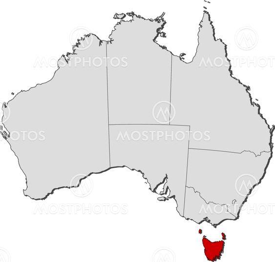 Map Of Australia Tasmania.Map Of Australia Tasmania By Steffen Hammer Mostphotos