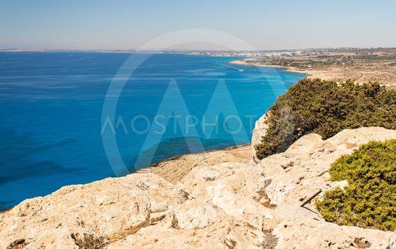 Top view of beautiful dreamy beach