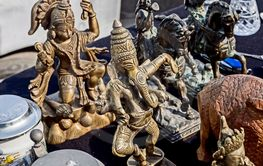 Indian-style figurines at the flea market in Tbilisi