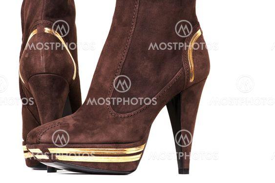 fashionable female boots