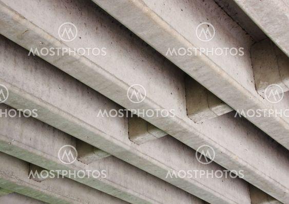 Concrete construction for highway bridge from beneath