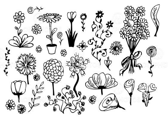 ritade blommor bilder