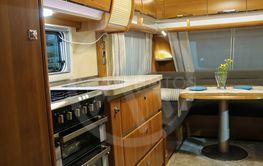 Exquisite compact interior of a camper