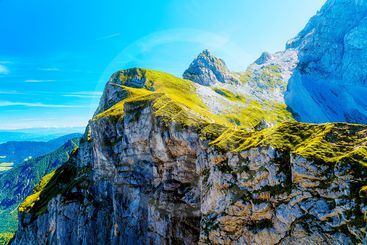 Beautiful alps landscape. Beautiful majestic mountain...