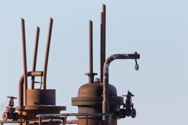 Old rusty pipes and valves