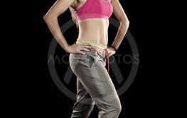 Fitness exercise girl