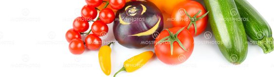 vegetables isolated on a white background. Free space...
