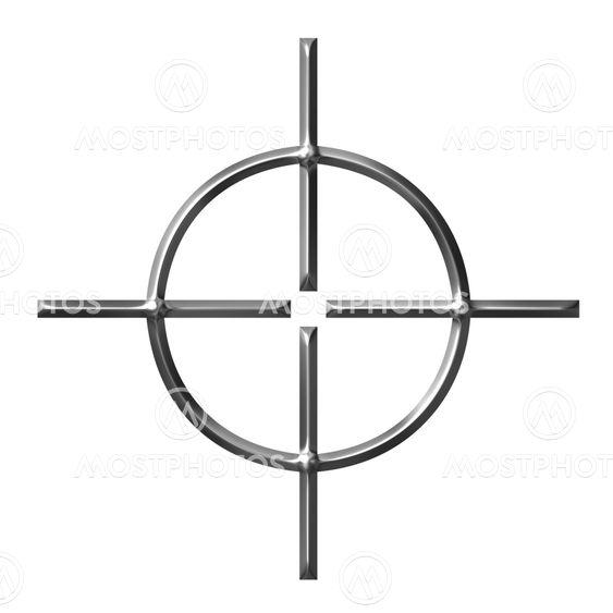 3D sølv Target