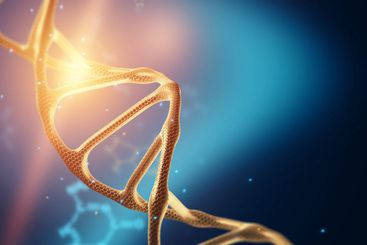 Creative background, dna structure, DNA molecule on a...