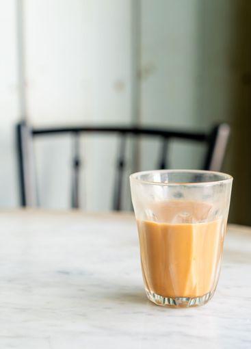 hot Thai milk tea glass