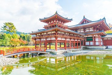 Beautiful Architecture Byodo-in Temple at Kyoto.