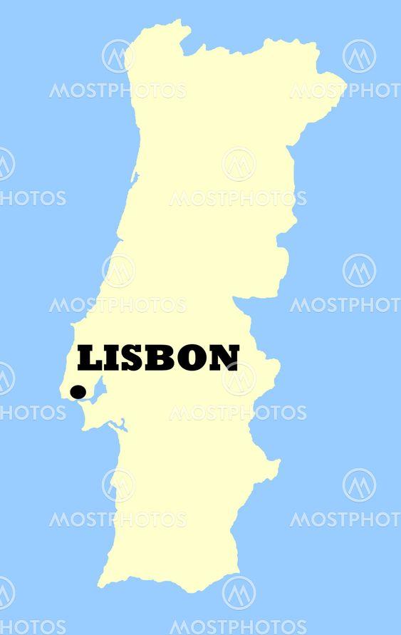 Portugal Kartta Juliste Julisteet Ja Printit Artiksdesign Fi