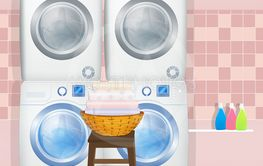 washing machines and washer-dryers in the laundry room
