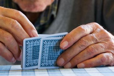 Hands and play cards