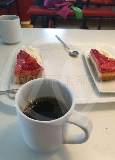 Kaffe med cheesecake