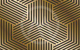 Vector geometric striped pattern - seamless luxury gold...