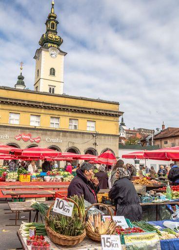 Farmers market in Zagreb Croatia in Europe