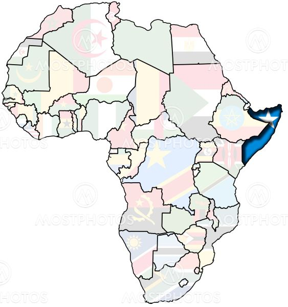 Somalia Pa Afrika Kort Fra Michal Baranski Mostphotos