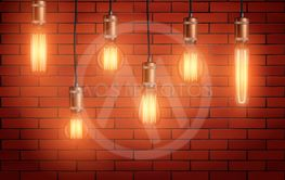 Retro edison light bulb set