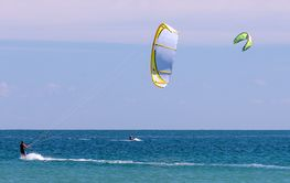 Kitesurfing in Ft. Pierce Florida.
