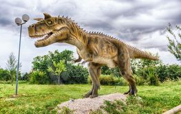 Carnotaurus dinosaur inside a dino park in southern Italy