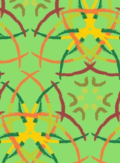 Abstract Brush Stroke Pattern