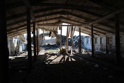 barnyard, abandoned