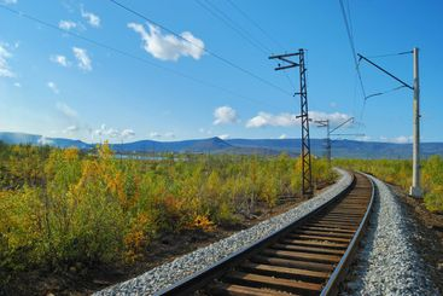 Turn of the railway