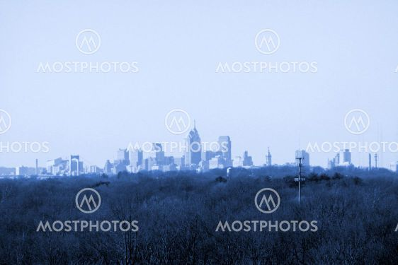 City In The Distance (Blue Tint)