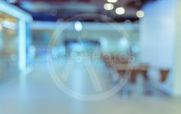 Blur abstract background of cafeteria  or food court