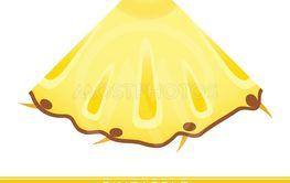 Pineapple wedge icon on white