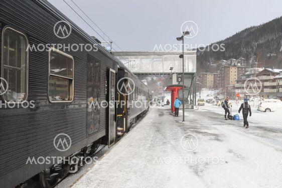 Tåg på Åre station
