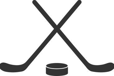 Flat Vector Hockey Icon